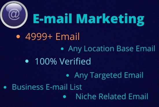 I Will Collect 5k Niche Targeted E-mail list