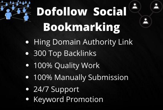 I will create 100 dofollow top social bookmarking backlinks manually