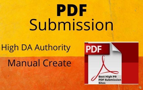 I will create 20 PDF submission manually High DA linkbuilding