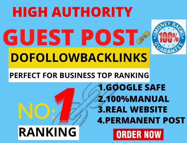 I will write & Published 10 Guest post on High Authority High DA site permanent backlink