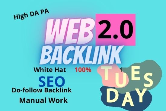 I will Create 30 Web2.0 High DA Do-follow Backlinks unique permanent link buildings