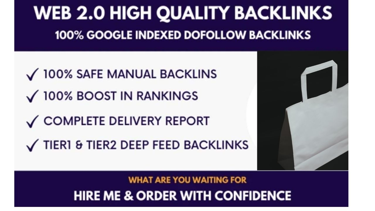 built 100 high quality web 2 0 backlinks