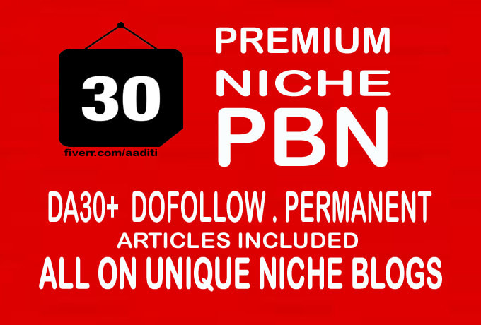 build da 30 plus dofollow niche relevant pbn backlinks