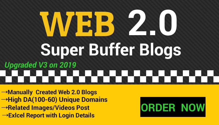 Create 30 super web 2 0 backlinks buffer blogs