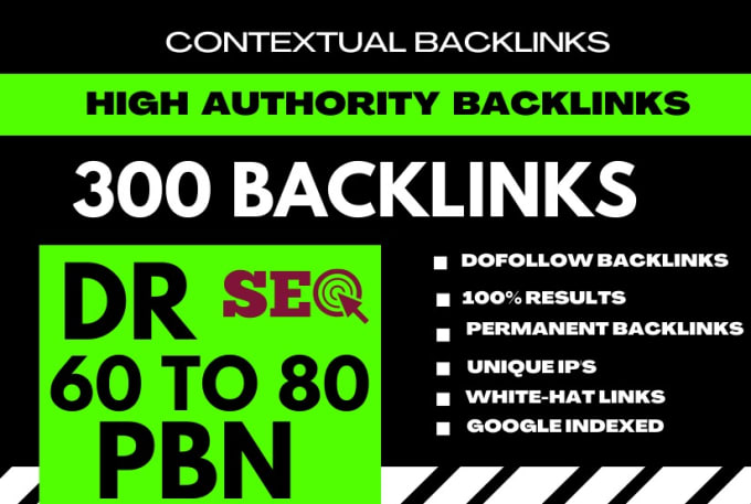 I will bulid 300 manual high dr contextual off page seo backlinks