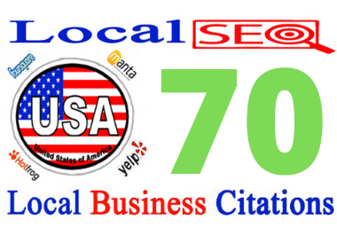 create 60 best USA local citations