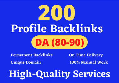 I will create 200 hith qulity profile backlinks - Boost your rank on google