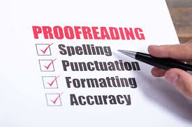 I will help do a thorough proofreading of your document