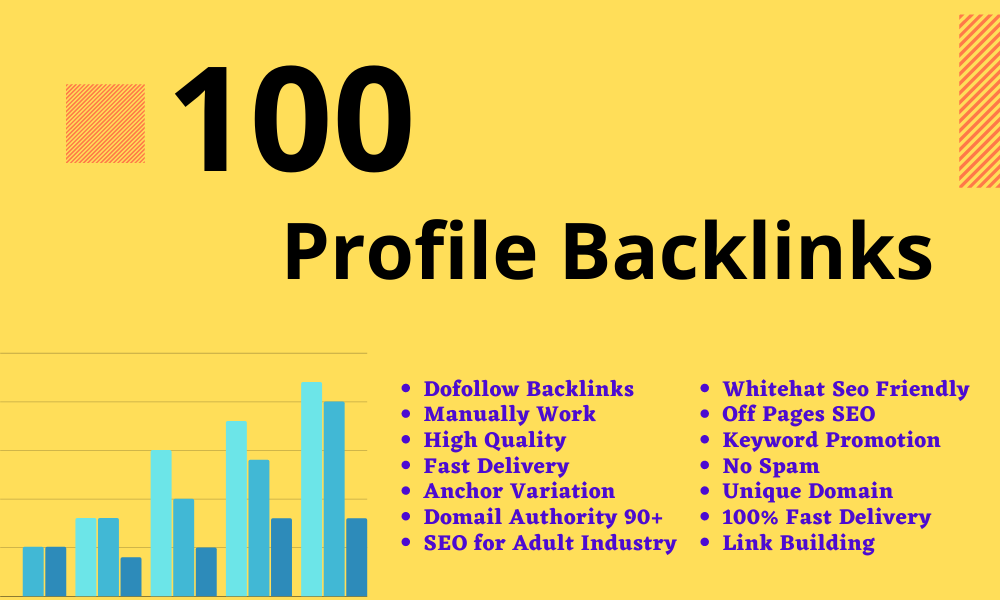 I will Create Manual 100 High Quality Profile Backlinks