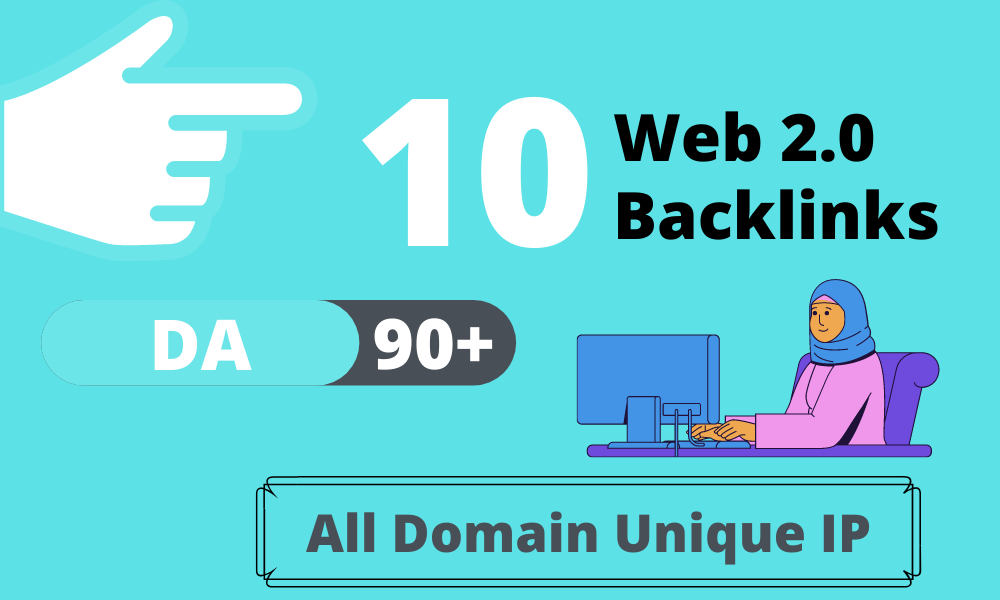 10 Contextual Web 2.0 (90+ DA) Seo Dofollow Manual Blogs Backlinks with Niche Related Articles and I