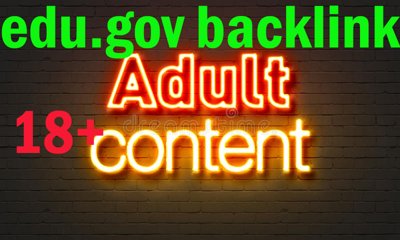 I will do manual 1000 edu/ gov HQ Profile backlinks for adult porn, dating link building