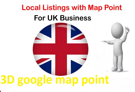 Create 3D 5000 map point citation for local business rank