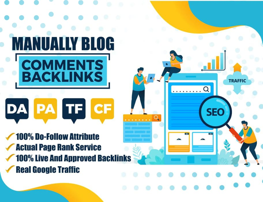 Manual 300 High Quality Blog Comment High DA PA BACKLINKS