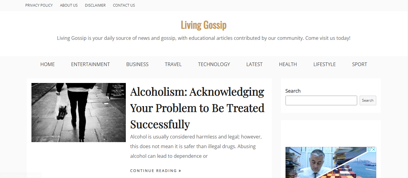 guest post on LivingGossip google news approved sites