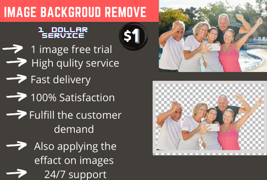 I will background remove 50 to 100 images with fast delivery