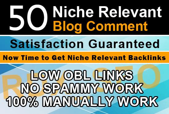 I will Create 50 niche relevant Blog Comment in High DA PA