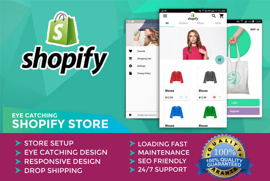 I will build 10k profitable shopify store, shopify website with shopify winning products