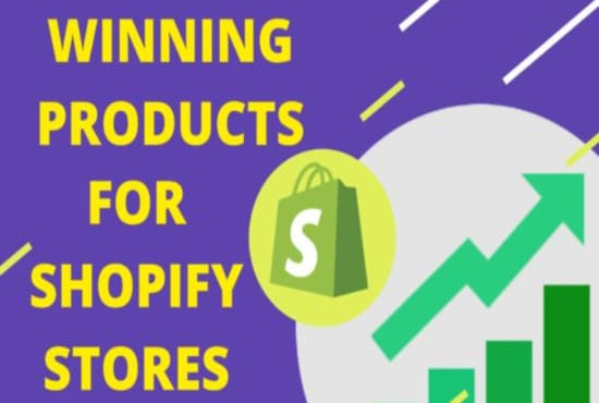 I will do shopify winning product research, shopify winning products, trending products