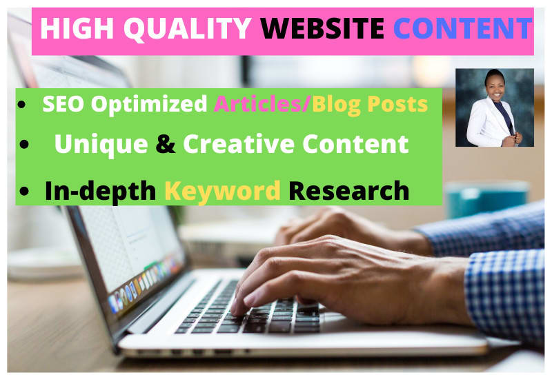 I will write quality business and real estate SEO articles