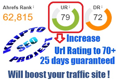 Increase your URL Rating Ahrefs to UR70+ for 25 Days