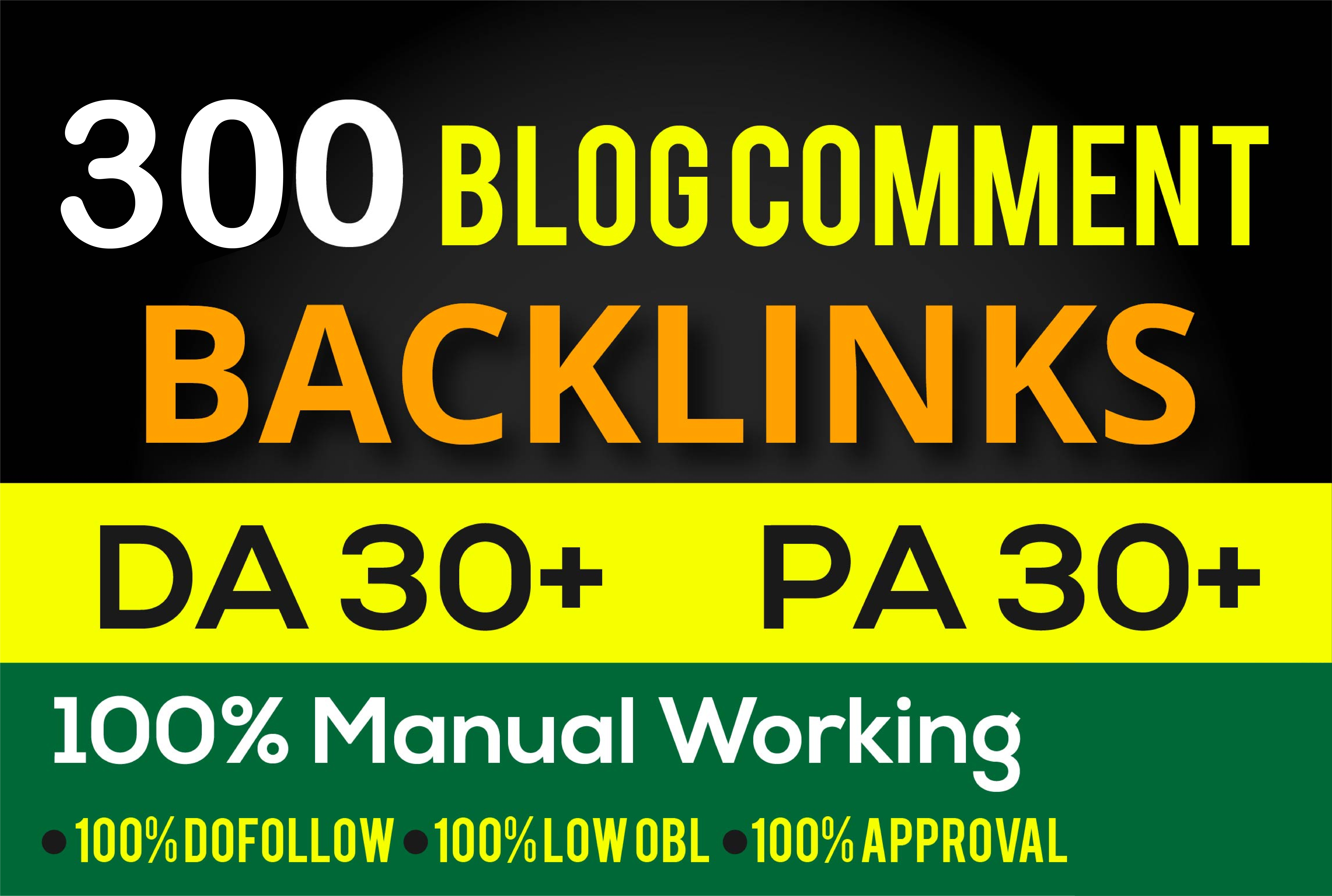 create 300 dofollow blog comment quality backlinks