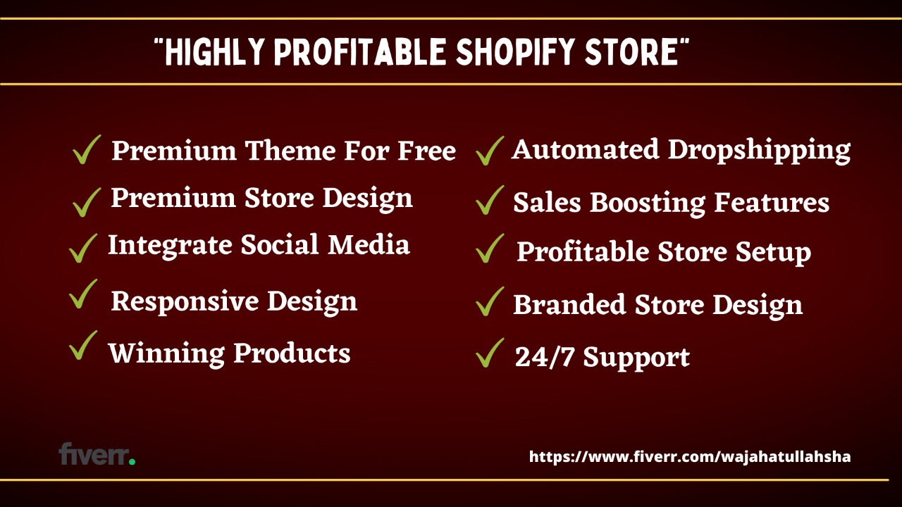 I will design or build profitable shopify store shopify website or dropshipping website