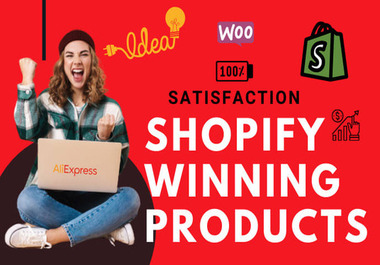 I will do shopify winning product research for dropshipping