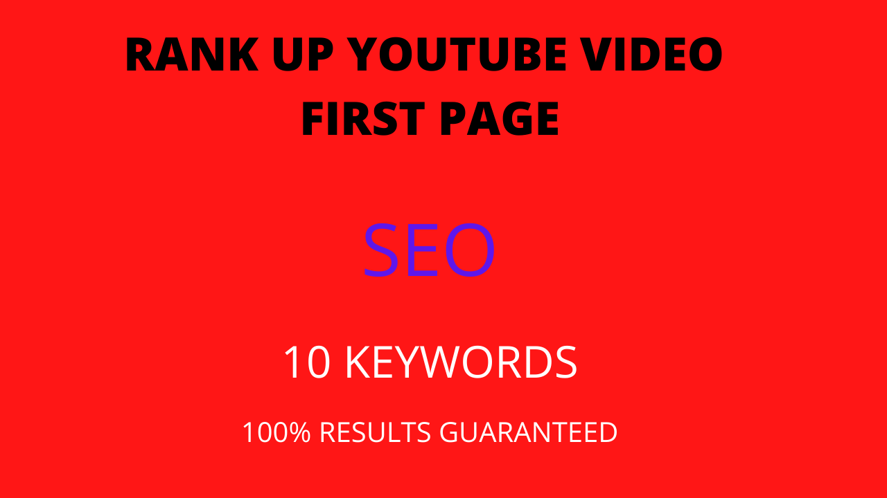I will do best youtube video SEO Ranking first page