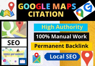 200 Google Maps Citation high authority permanent backlink local seo citation and high quality
