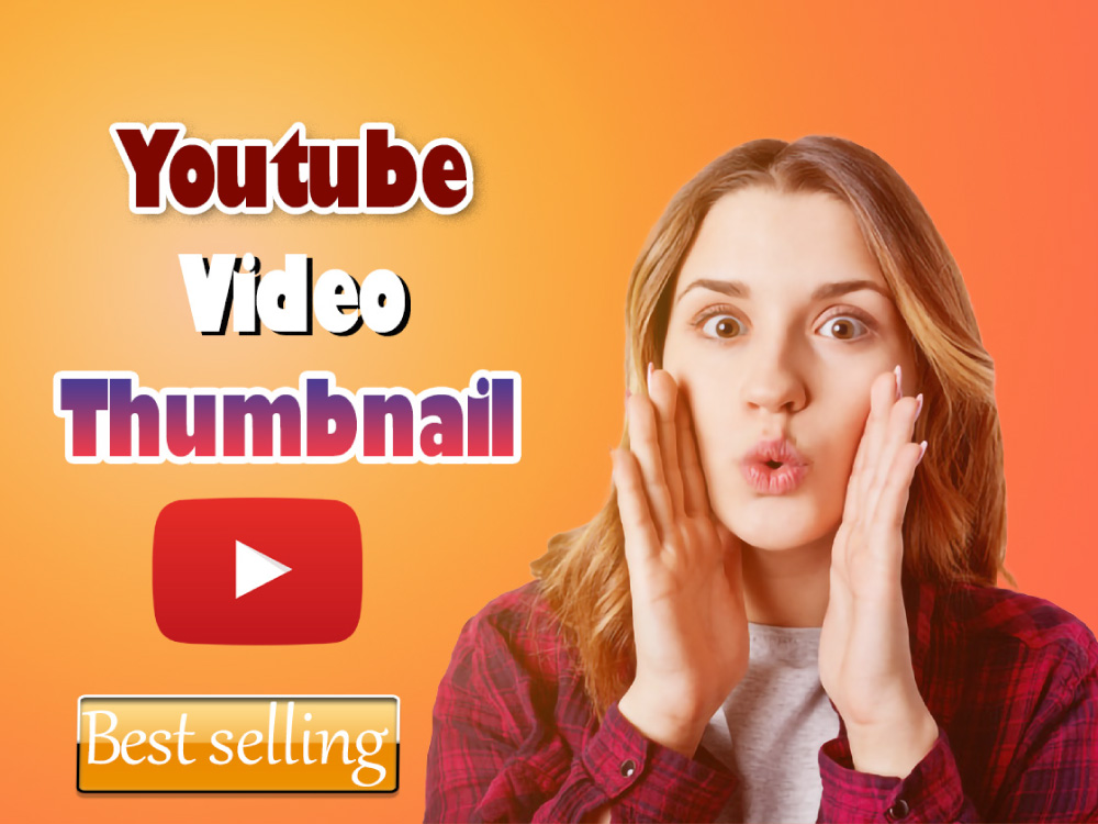 You will get Eye-catchy YouTube thumbnail design