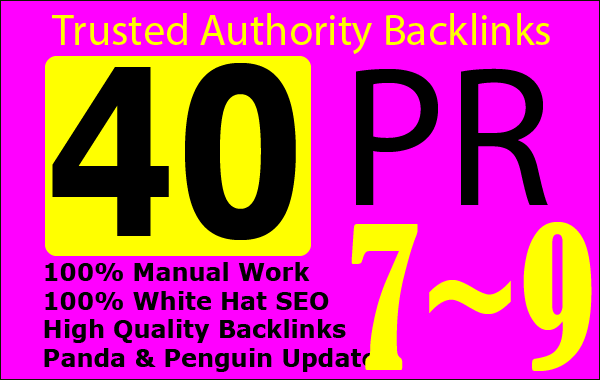 l Will Boost Your Google Ranking SEO With 40 PR-9 High Authority Backlinks Service 2021