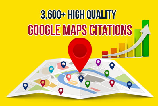 3600 google map citation for local SEO and GMB ranking