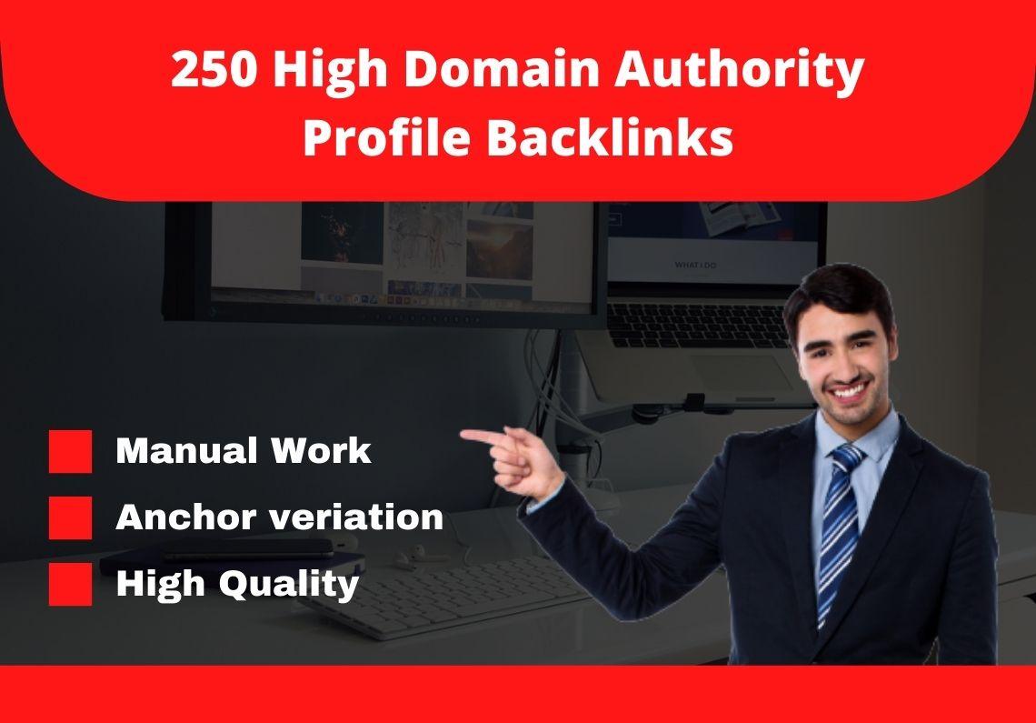 I will provide you 250 high domain authority 80+ do-follow backlinks.