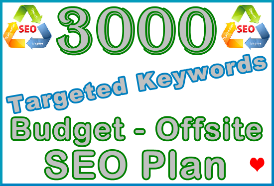 3.000 Targeted Keywords with Our Budget - Offsite SEO Importance Plan