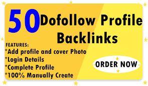 I will 50 profile dofollow backlinks on high da unique websites