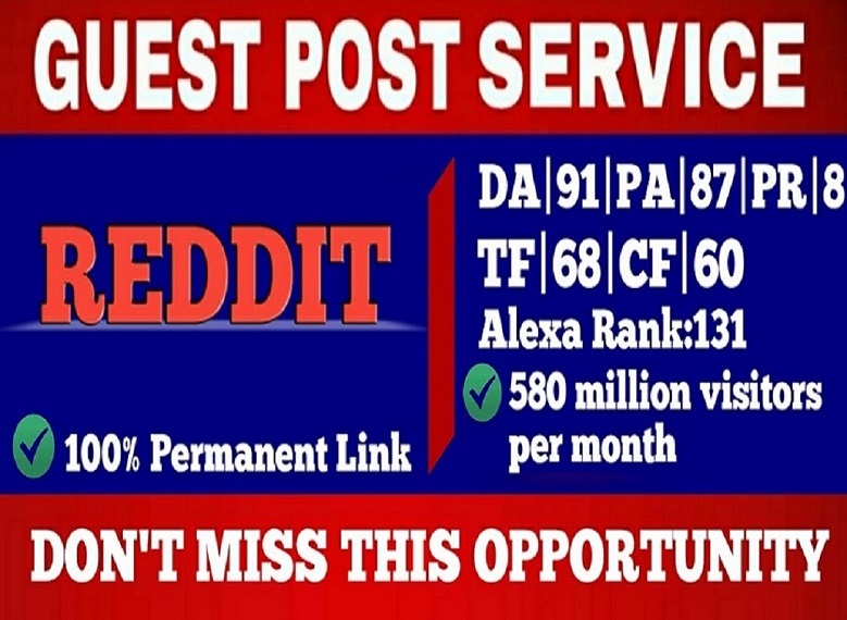 Write and Publish Guest Blog Post On Reddit DA91 with permanent link