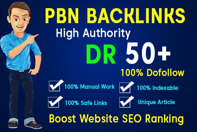 I Will Provide You 30 High DR50+ PBN BACKLINKS