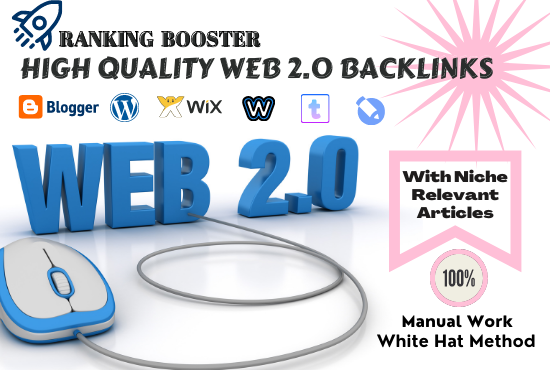 I Will Create 10 High Quality WEB 2.0 Backlinks With Niche Relevant Articles