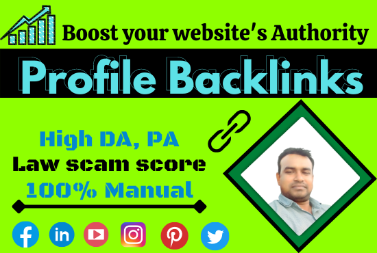 I Will Create High Quality 100 Profile Backlinks On High Authority Websites
