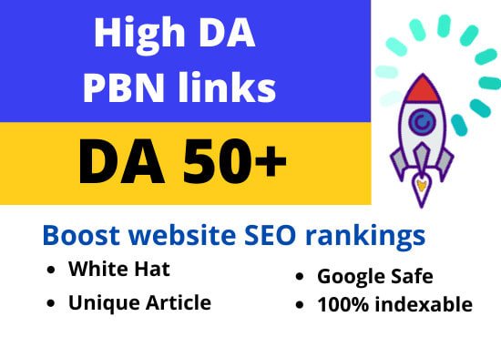 I will make DA 50 plus permanent 5 homepage backlinks for seo ranking