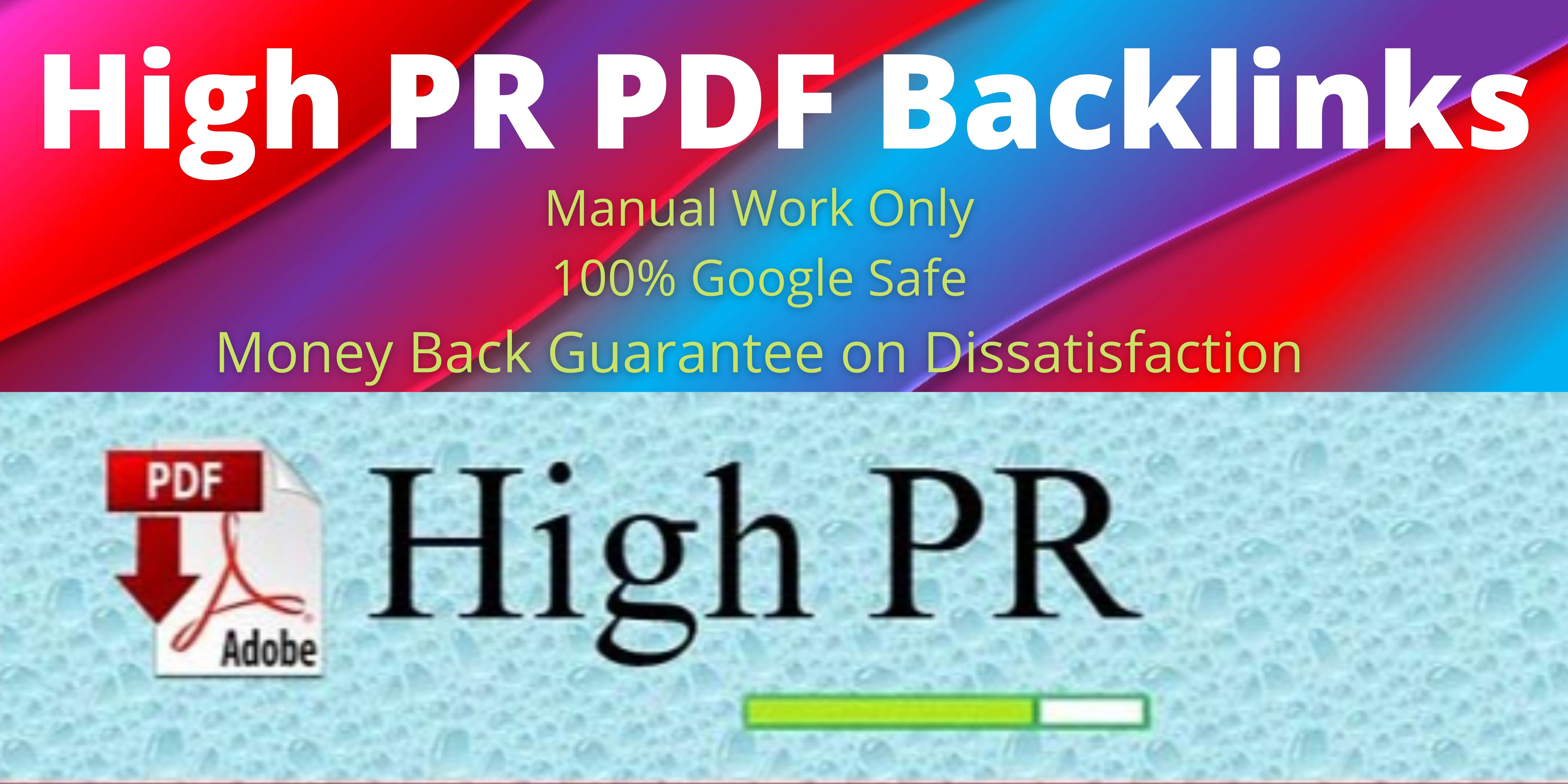 20 High Authority low spam score PDF submission backlinks