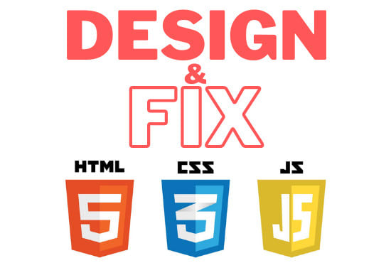 I will design and fix HTML CSS bootstrap and javascript web pages