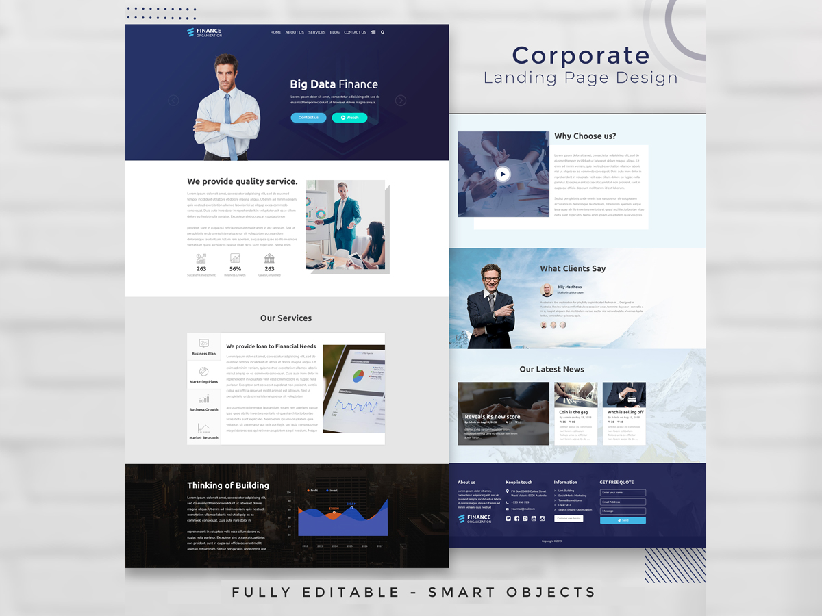 I will do web design and build complete website