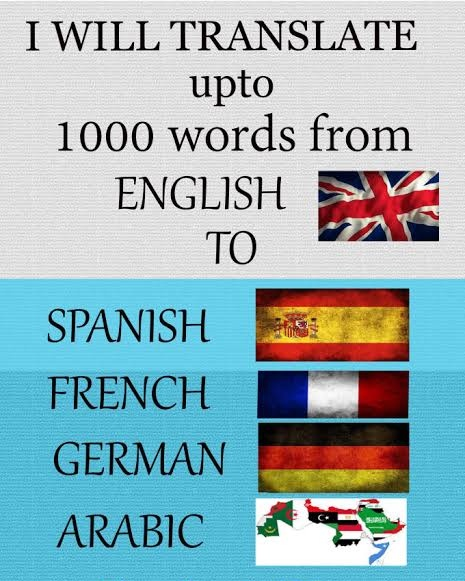 I will translate English to all languages