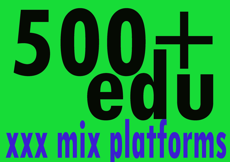 500+ EDU Backlinks. edu. xxx mix platforms Mix Backlinks