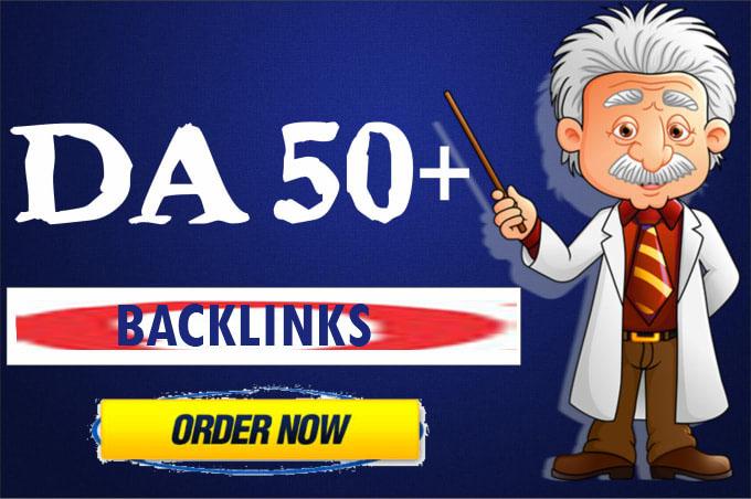 50 DA50+ High Authority Manual Backlinks to Your Google Rankings
