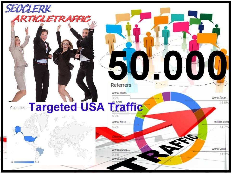 i will drive 50000+ visitors to your website within 3weeks