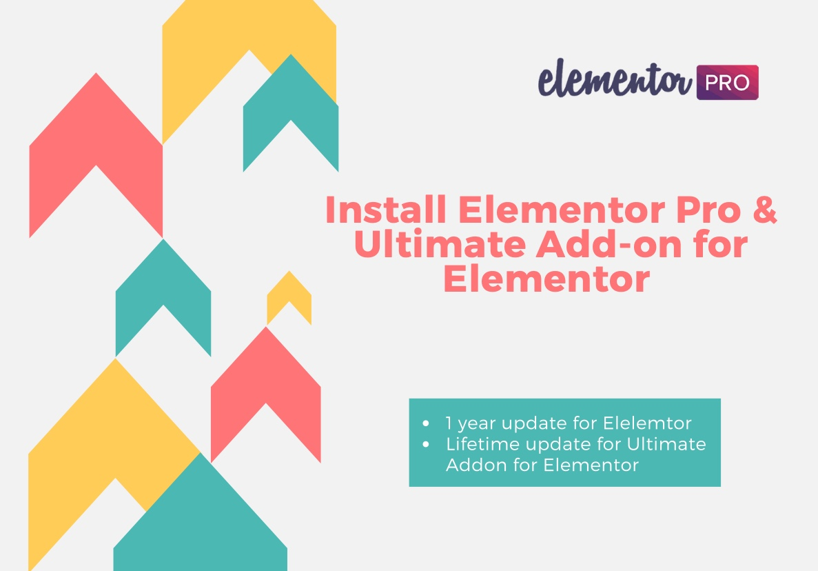 I will install Elementor Pro plugin and Ultimate Addon for Elementor with official license