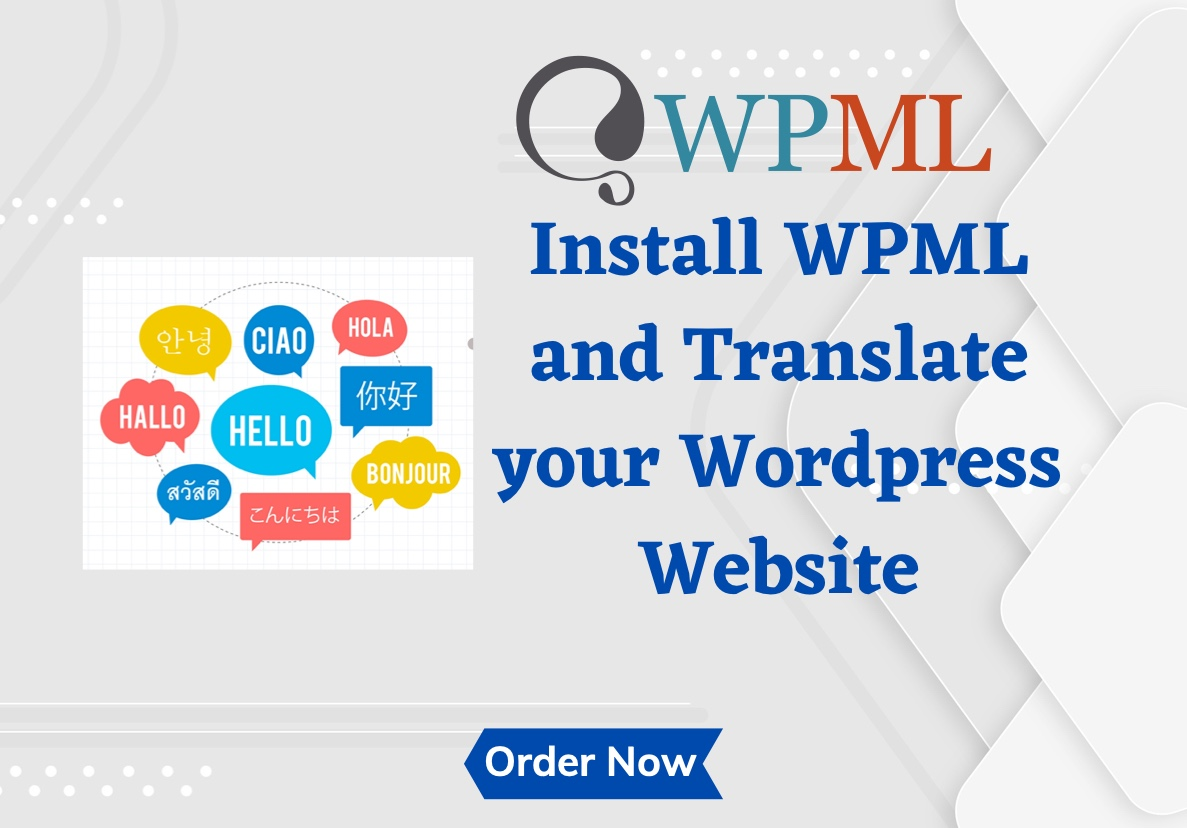I will install WPML plugin on your WordPress Website