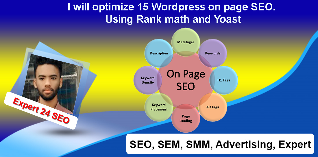 I will optimize 15 Wordpress on page SEO. Using Rank math and Yoast